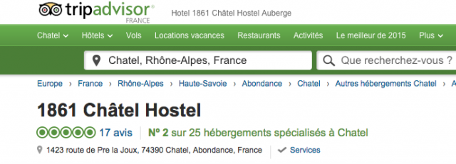 review 1861 chatel hostel